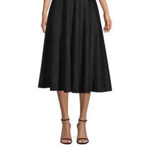 JOE FRESH Black Paper Bag Waist A-Line Skirt
